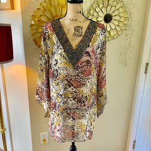 Shoreline beaded top  cover up